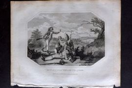Lyttleton 1810 Military Print. Death of General Wolfe, Siege of Quebec. Canada